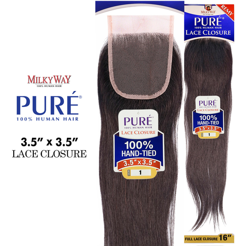 Milkyway Remy Human Hair Weave Pure 3 5x3 5 Lace Closure