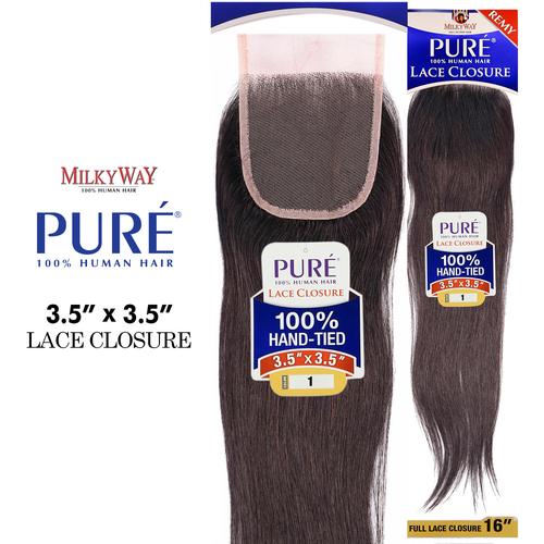 Human hair weave milkyway pure yaki samsbeauty milkyway remy human hair weave pure 35x35 lace closure pmusecretfo Image collections