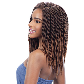 Milkyway Que Synthetic Hair Crochet Braids 2X Jumbo Senegal Twist 10 ...