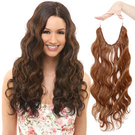 Janet Collection Synthetic Halo Hair Extensions Insta X Tension Body Wave 24