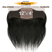 Sensationnel Malaysian Virgin Remy Human Hair Weave BareAMP;Natural 12x4 Swiss Full Lace Ear To Ear Coverall Straight 12