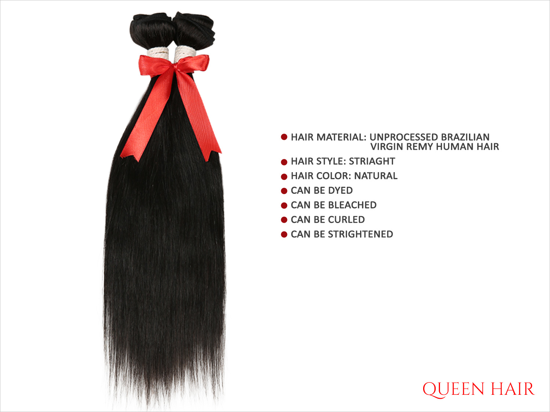 Queen Hair Unprocessed Brazilian Virgin Remy Human Hair Weave