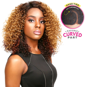 Sensationnel Synthetic Lace Front Wig Empress Edge Natural Curved Part Aubery