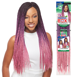 ... Synthetic Hair Crochet Braids 3S Havana Box Braid 24 - SamsBeauty