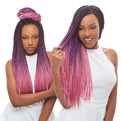 Janet Collection Synthetic Hair Crochet Braids 3S Havana Box Braid 24 ...