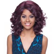 Harlem125 Synthetic Hair Lace Front Wig Kima Deep Part Ocean Wave S KLW01