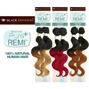Black Diamond Brazilian Remy Human Hair Weave Pure Remi Natural Body Weave