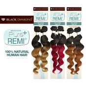 Black Diamond Brazilian Remy Human Hair Weave Pure Remi Natural Spiral Curly Natural Wave