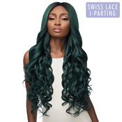 Outre Synthetic Hair Lace Front Wig Swiss Lace I Part Serena 32