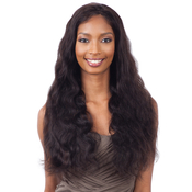 NAKED Natural Unprocessed Brazilian Virgin Human Hair Lace Front Wig Lace Frontal Natural 101 Body Wave 26