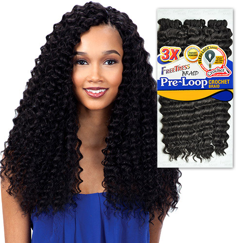 ... Hair Braids 3X Pre-loop Crochet Braid Deep Twist 16 - SamsBeauty