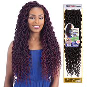 FreeTress Synthetic Hair Crochet Braids 2X Soft Faux Loc Plumpy Curly 20