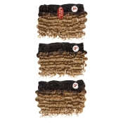 BareAMP;Natural Virgin Human Hair Weave 7A One Pack Complete Deep Wave 9 3Pcs