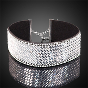 Rhinestone Iridescent Patterned Choker
