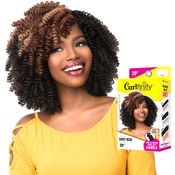 Sensationnel Synthetic Hair Crochet Braids Curlfinity Pre Looped Grey Rod