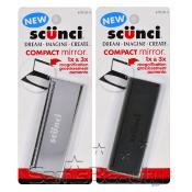 SCUNCI 1X AMP; 3X Magnification Compact Mirror