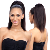 Saga Naked Unprocessed Brazilian Virgin Remy Human Hair Drawstring Ponytail Remy Wizard 14