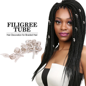 Magic Collection Braid Hair Tube Hair Decoration Filigree Tube