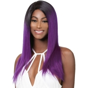 Wig Dress 100 Brazilian Human Hair Lace Front Wig 4Ever Ultra Color Straight T1BPURPLE RAGE
