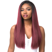 Sensationnel Synthetic Hair Half Wig Instant Weave Boutique Bundles Kinky Straight