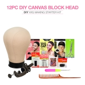 Studio Limited Canvas Block Head DIY Wig Making Starter Kit 12pcs