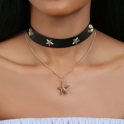 Black Line With Star Choker