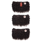 BareAMP;Natural Virgin Human Hair Weave 7A One Pack Complete Jerry Curl 9 3Pcs