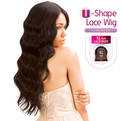 New Born Free Human Hair Blend Lace Front Wig 4X4 XL Magic Lace UShape Lace Wig MLUH94