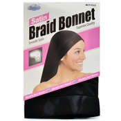 Dream Satin Braid Bonnet Black