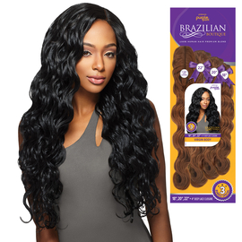 Outre human hair blend weave premium purple pack brazilian hair color shown jblk samsbeauty pmusecretfo Images