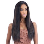 Milky Way Que Human Hair Blend Weave Malaysian Ironed Texture Natural Straight 141618 7pcs