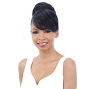 ModelModel Synthetic Hair Bun And Bang Sleek Bun Bang 2Pcs Swoop Side Bang