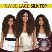 The Stylist Synthetic Lace Front Wig 4x4 Swiss Lace Silk Top Curly Curls