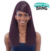 ModelModel Synthetic Hair Ponytail AMP; Swoop Side Bang Yaky Straight 2Pcs