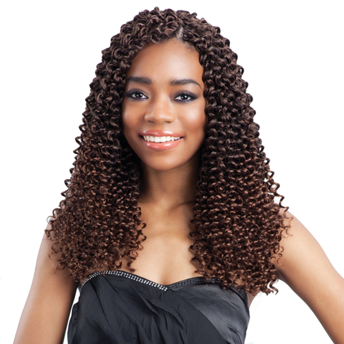 Crochet Hair Water Wave : FreeTress Synthetic Hair Crochet Braids Water Wave Bulk 12 ...