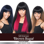 ISIS Human Hair Blend Wig Brown Sugar BS117