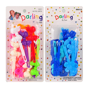 Kids Colorful Plastic Hair Barrettes Hair Clips 24PcsChoose Your Color