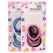 Gentle Elastic Ponytail Holders 12Pcs