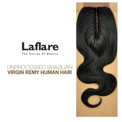 LaFlare Unprocessed Brazilian Virgin Remy Human Hair Weave Natural Body Closure