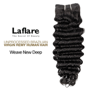 LaFlare Unprocessed Brazilian Virgin Remy Human Hair Weave New Deep