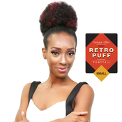 Instant Glitz Synthetic Drawstring Ponytail Retro Puff Small