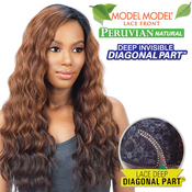 ModelModel Synthetic Lace Front Wig Peruvian Natural Collection Deep Invisible Diagonal part Foxy Deep