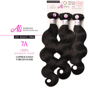 Ali Bundles Unprocessed Brazilian Virgin Human Hair Weave Body Wave 3Pcs 285g