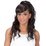 Vivica Fox Synthetic Hair Drawstring Ponytail Two In One Bang AMP; Pony BPKennedei