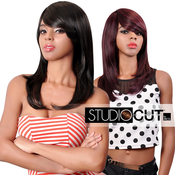 Studio Cut by Pros Synthetic Hair Wig 18 Feather Razor Cut