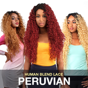 The Wig Brazilian Human Hair Blend Invisible Deep Part Lace Front Wig LHPERUVIAN