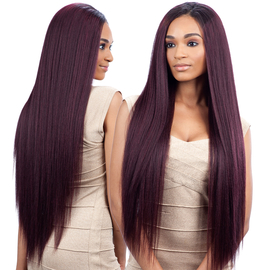 Milky Way Que Human Hair Blend Weave Malaysian Ironed Texture Natural Straight 22