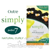 Outre Simply NonProcessed Brazilian Human Hair Weave Perfect 7 Natural Curly 7Pcs