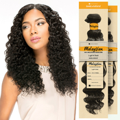 Sensationnel Unprocessed Malaysian Virgin Remy Human Hair Weave Bare AMP; Natural Euro Deep