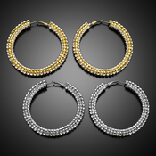 Rhinestone Bejeweled Hoop Earrings